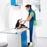 Untersuchungstisch im Röntgenraum