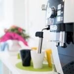 Kaffeemaschine im Wartebereich